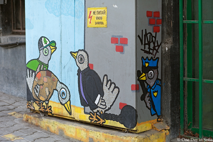 sparrows street art