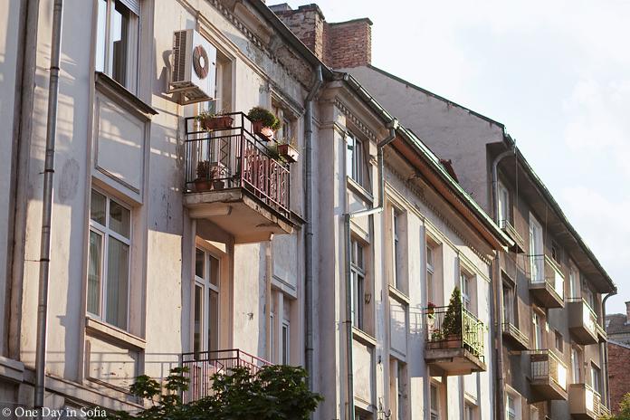 sunlit balconies