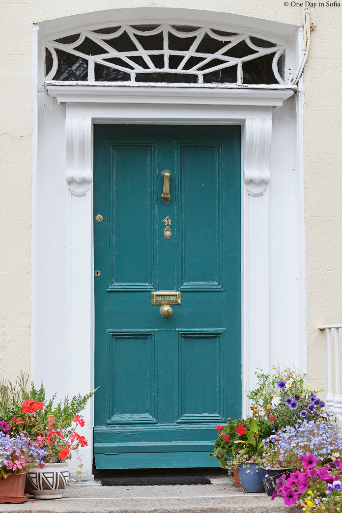 door and flowers