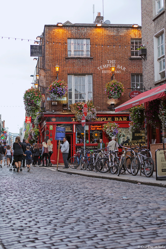 Temple Bar at dusk