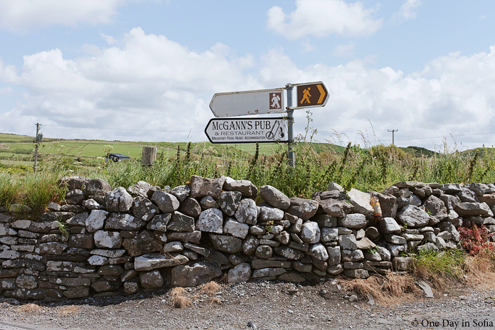 signpost in Doolin