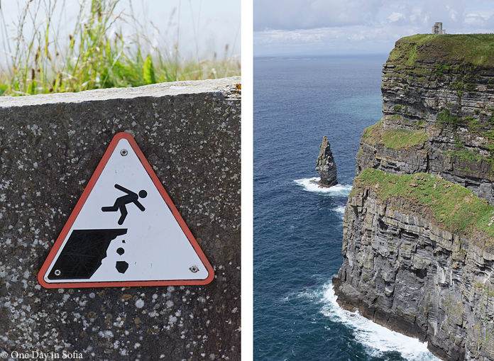 Cliffs of Moher danger sign