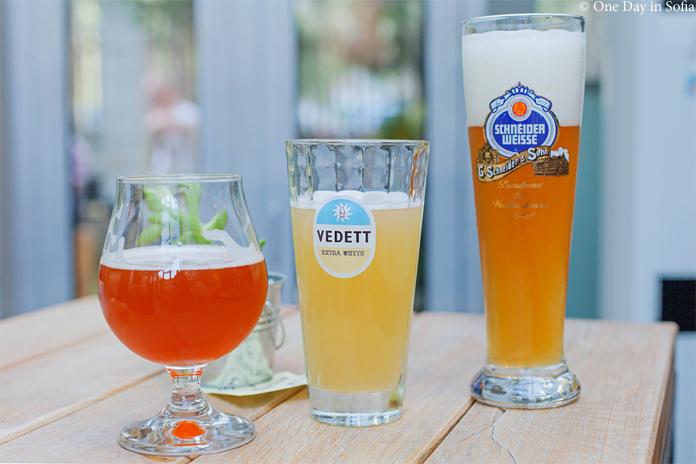 three glasses of beer