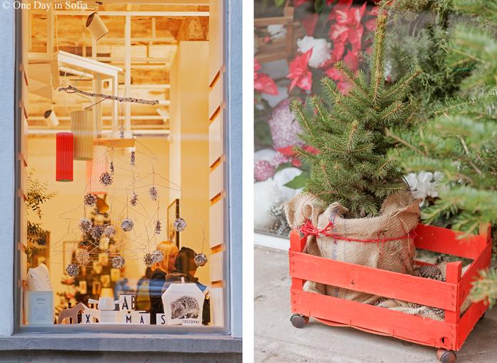 xmas shop windows