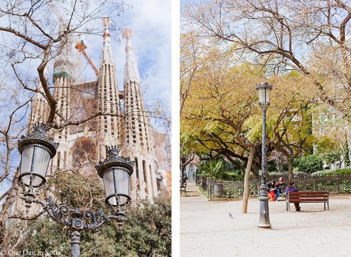 Barcelona lamp posts