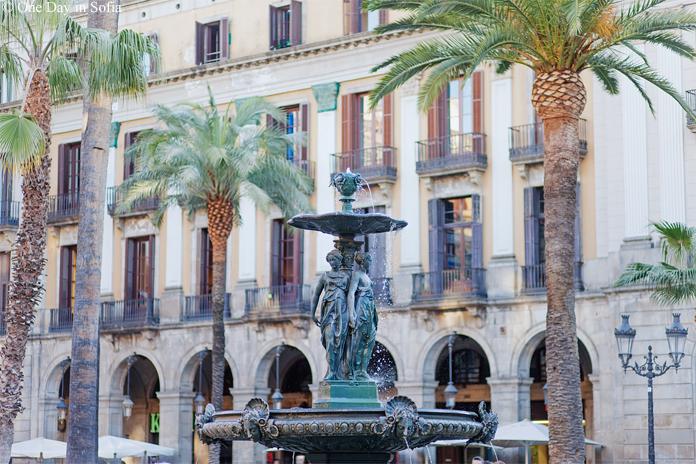 Plaça Reial Fountain