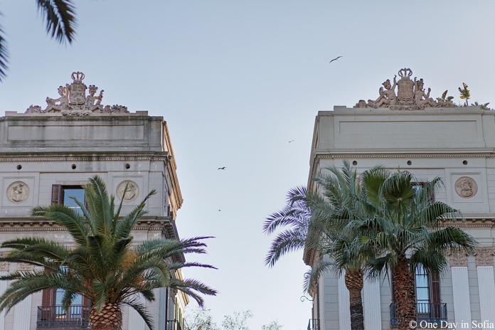 view from Plaça Reial