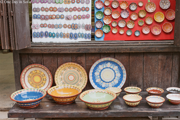 colourful Bulgarian pottery