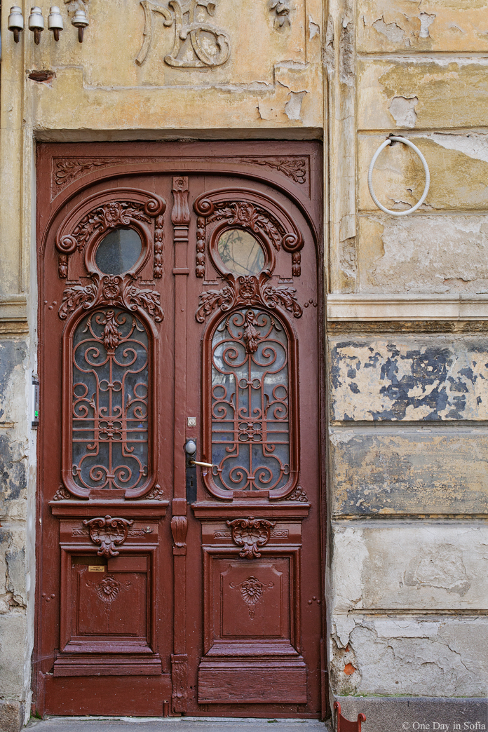 beautiful door of old building