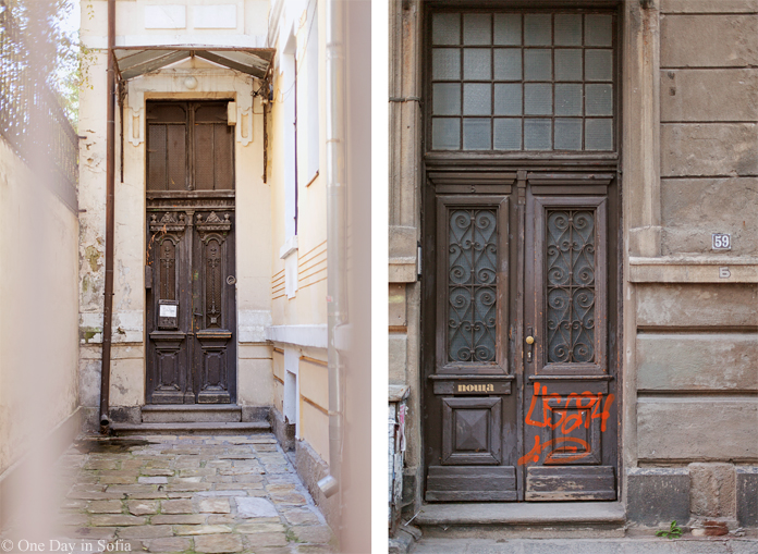 old wooden doors in Sofia