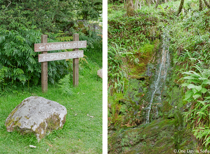 Glendalough monastic city sign