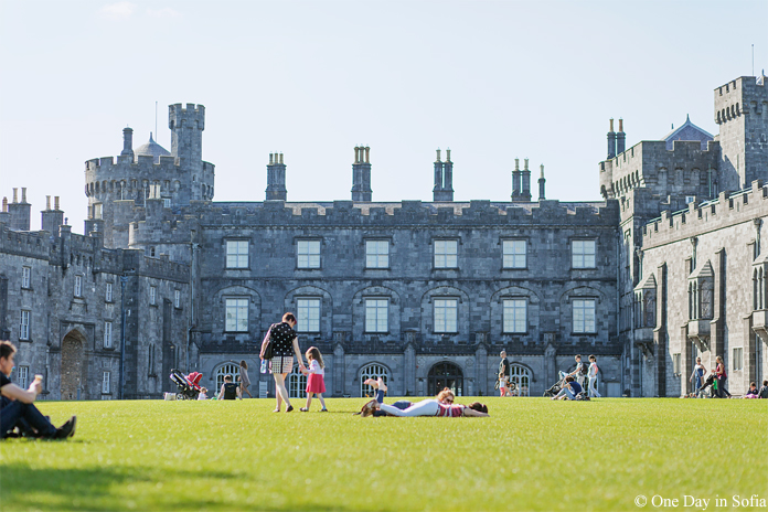 Kilkenny castle grass fields