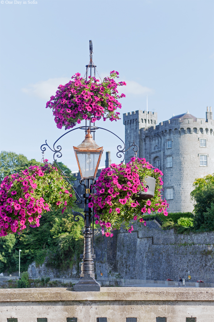 Kilkenny Castle and flowers