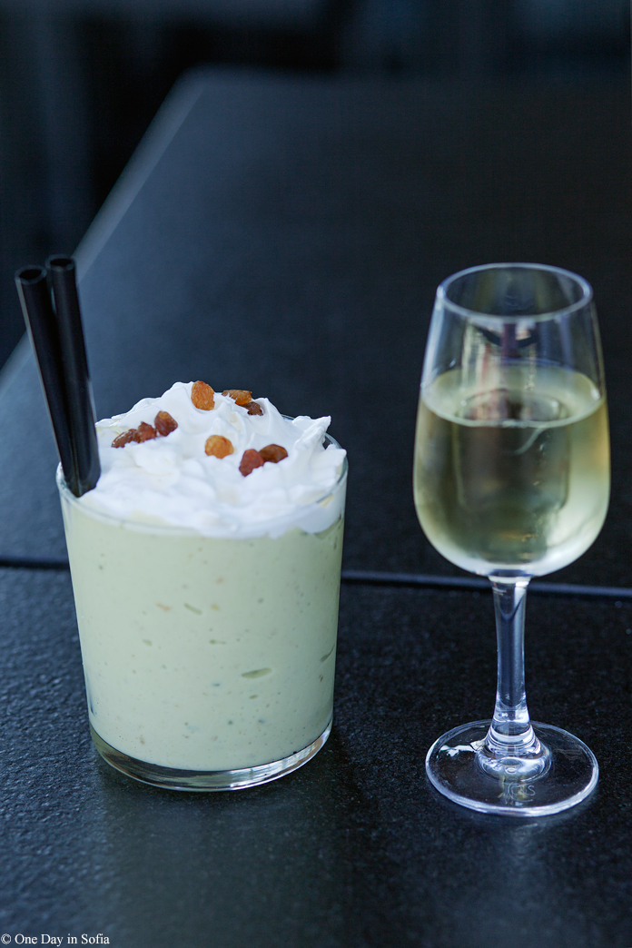 avocado shake and rakia