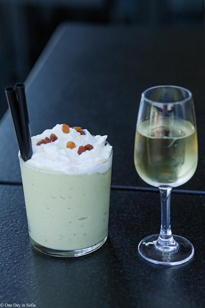 avocado shake and rakia