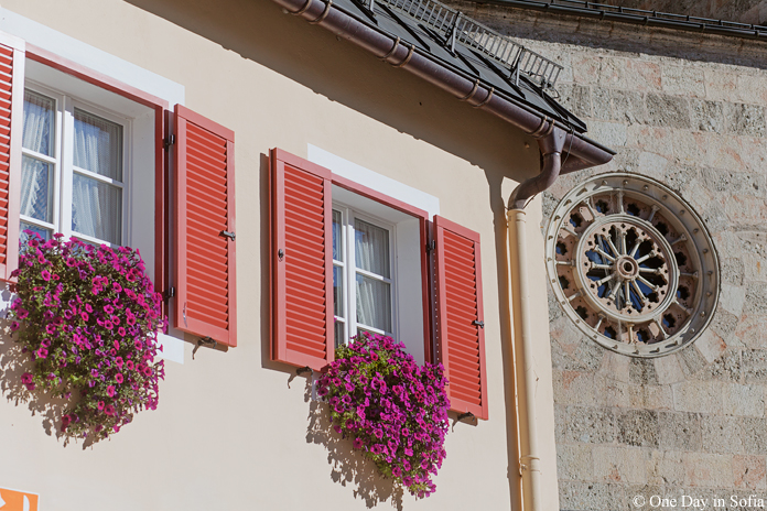 windows with flowers in Germany
