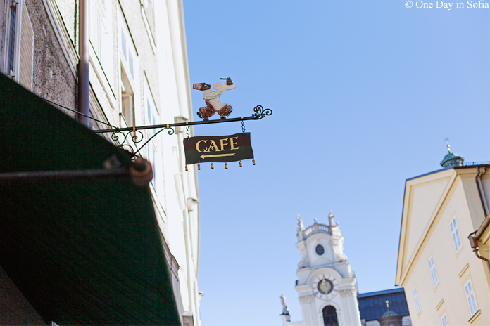 Salzburg cafe sign