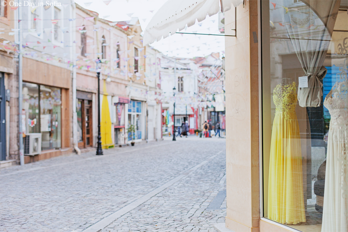 dresses in Kapana shop window