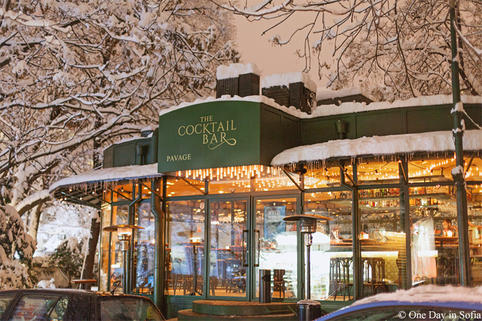 The Cocktail Bar covered in snow