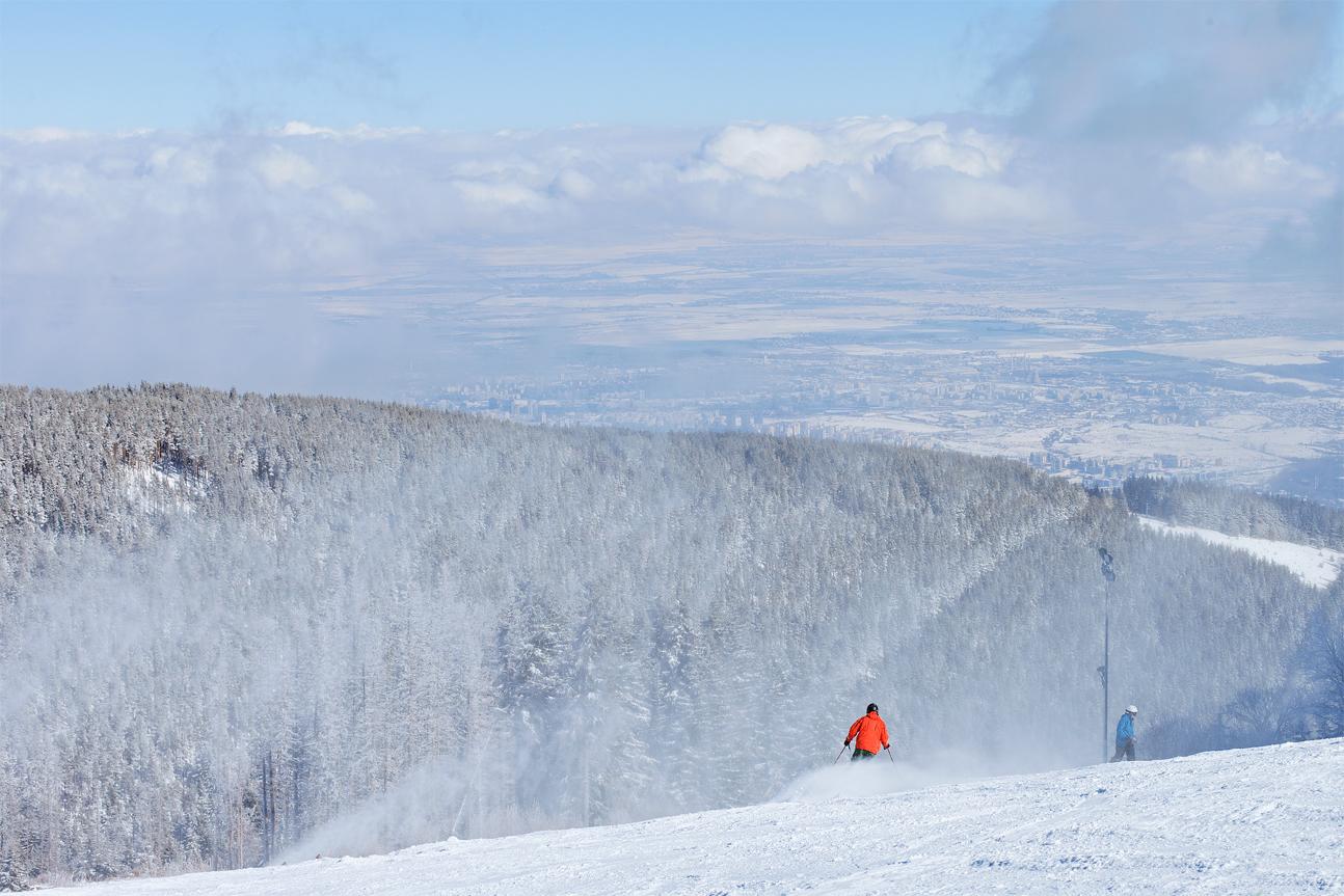 skiing on Vitosha mountain