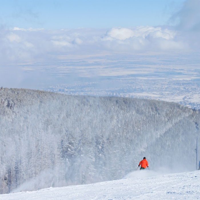 skiing on Vitosha mountain