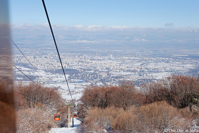 view of Sofia from Simeonovo ski lift