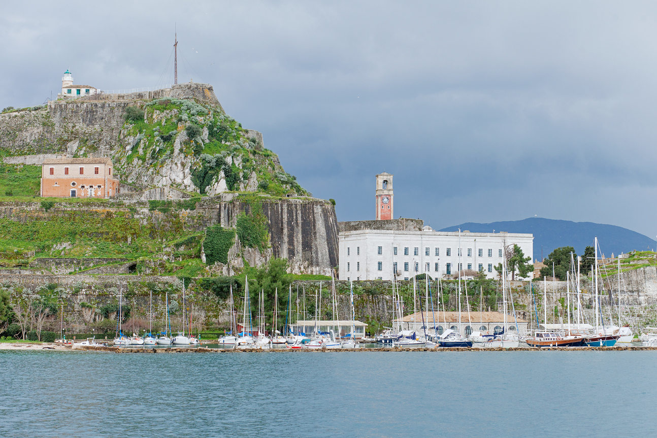 Old fortress of Corfu from sea