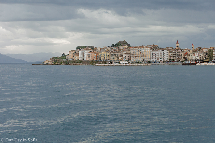 Old town of Kerkyra from sea