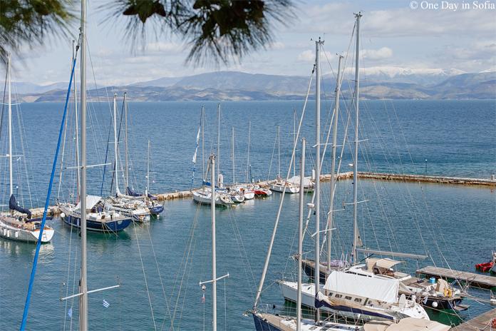 yachts on Corfu island