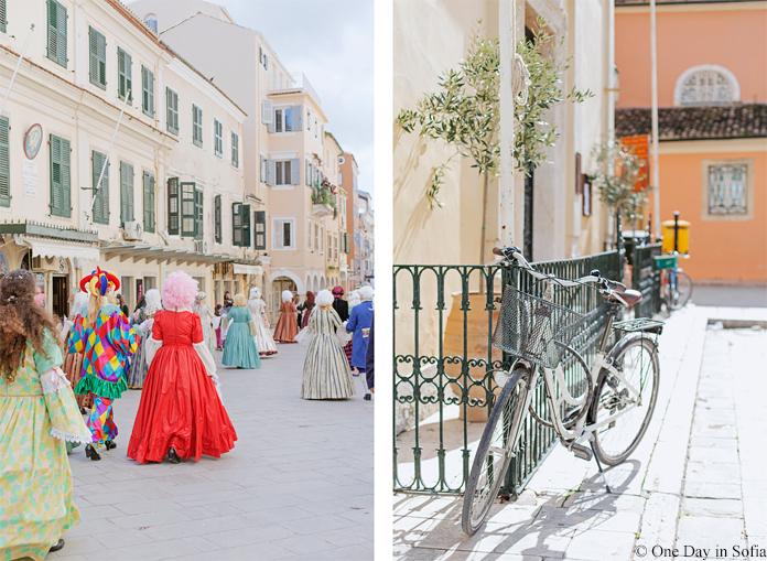 Venetian carnival in Corfu Old Town