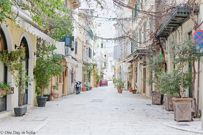 street in Corfu town