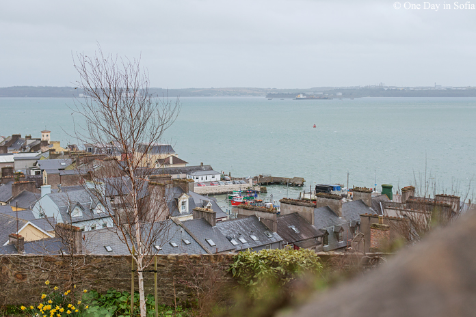 view of Cobh harbour