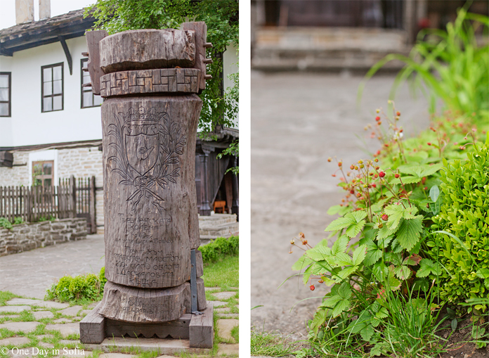 wood carved column