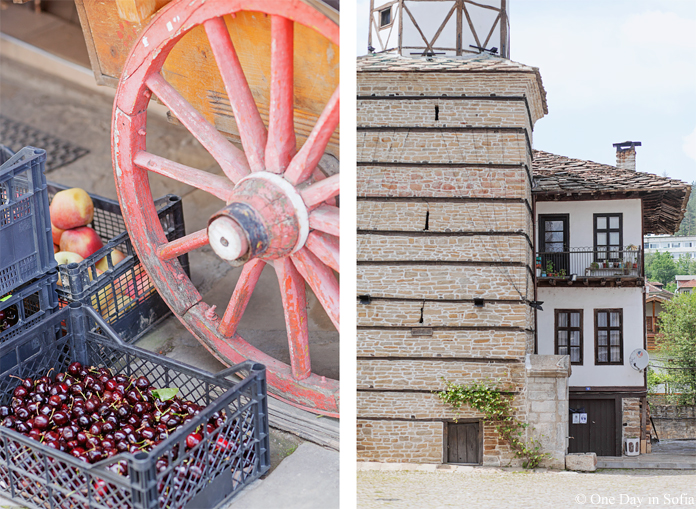 Cherries and peaches in Tryavna