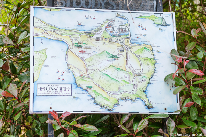 map of Howth, Ireland