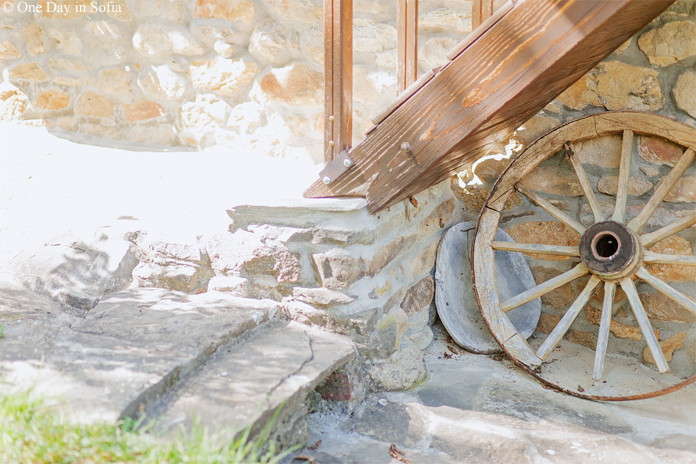 country stairs and wheel