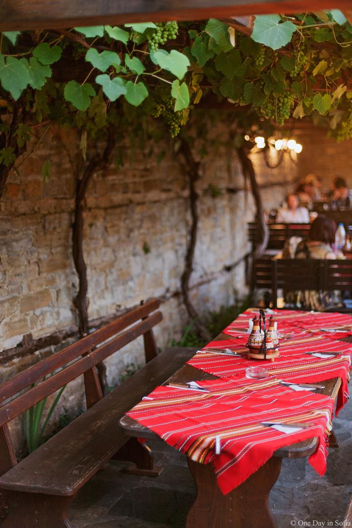 table under the vine, Bulgaria