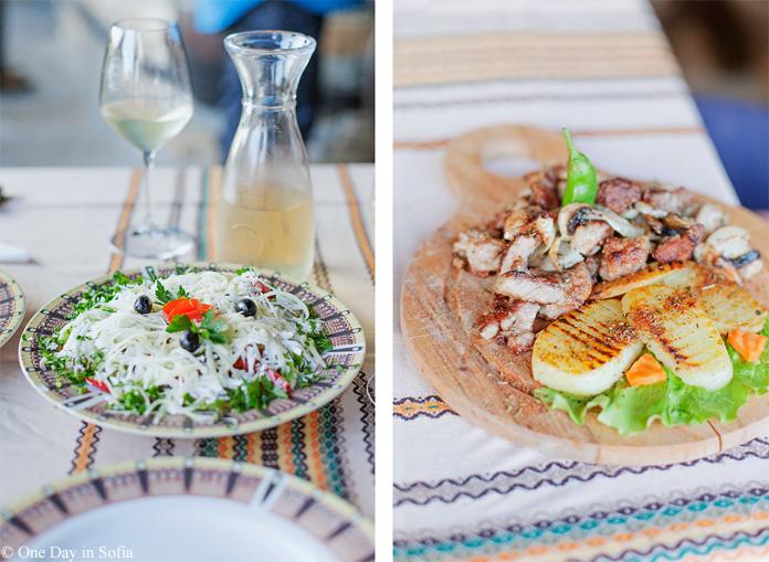 Bulgarian dishes at Svatovete taven