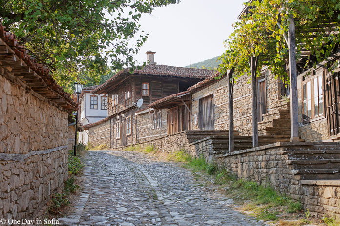 street in Zheravna village