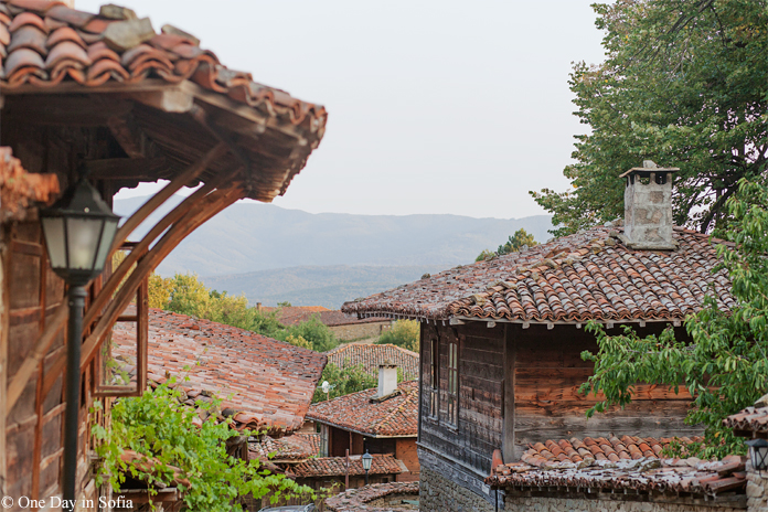 roofs of traditional houses in Zheravna