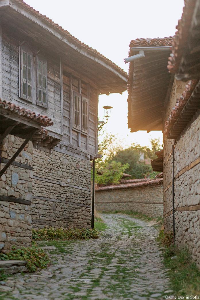 sunset at Zheravna village