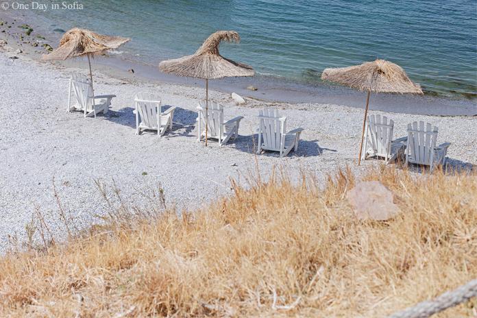 straw umbrellas St. Anastasia Island