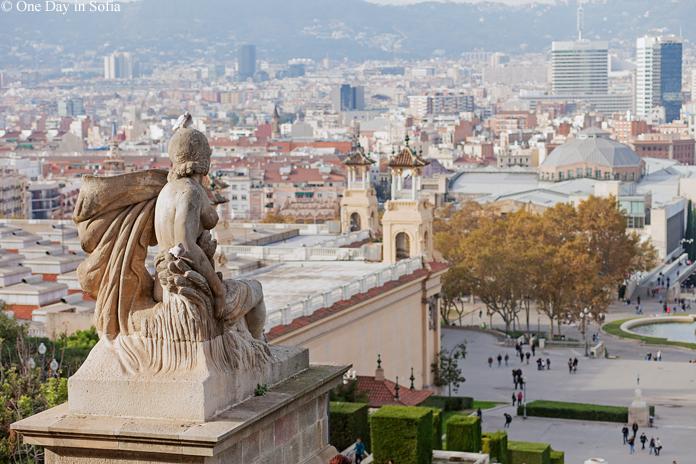 view from Montjuïc Barcelona