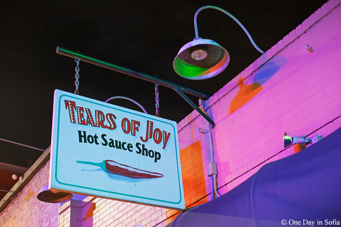 hot sauce shop sign