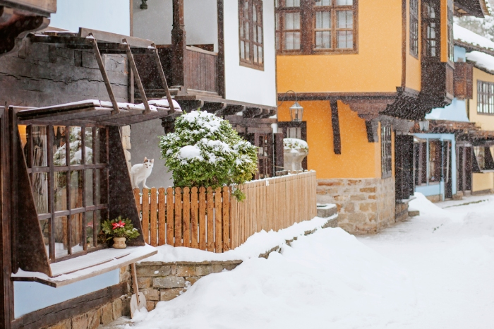 snow in Etar, Bulgaria