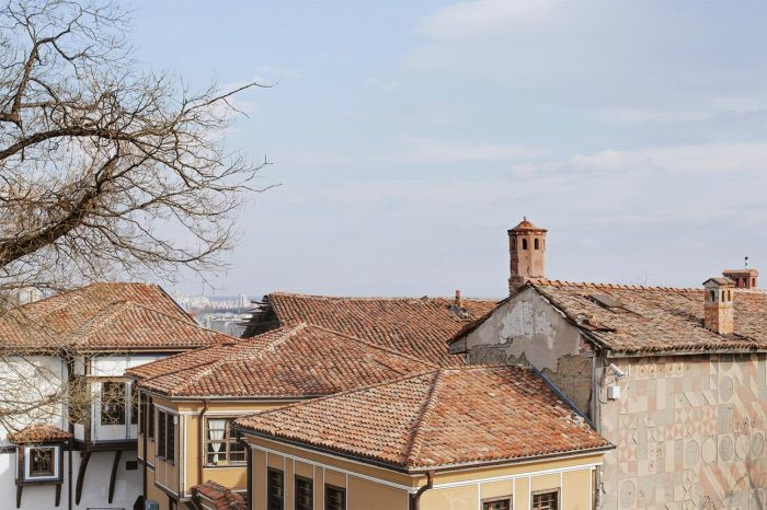 rooftops in Plovdiv Old Town