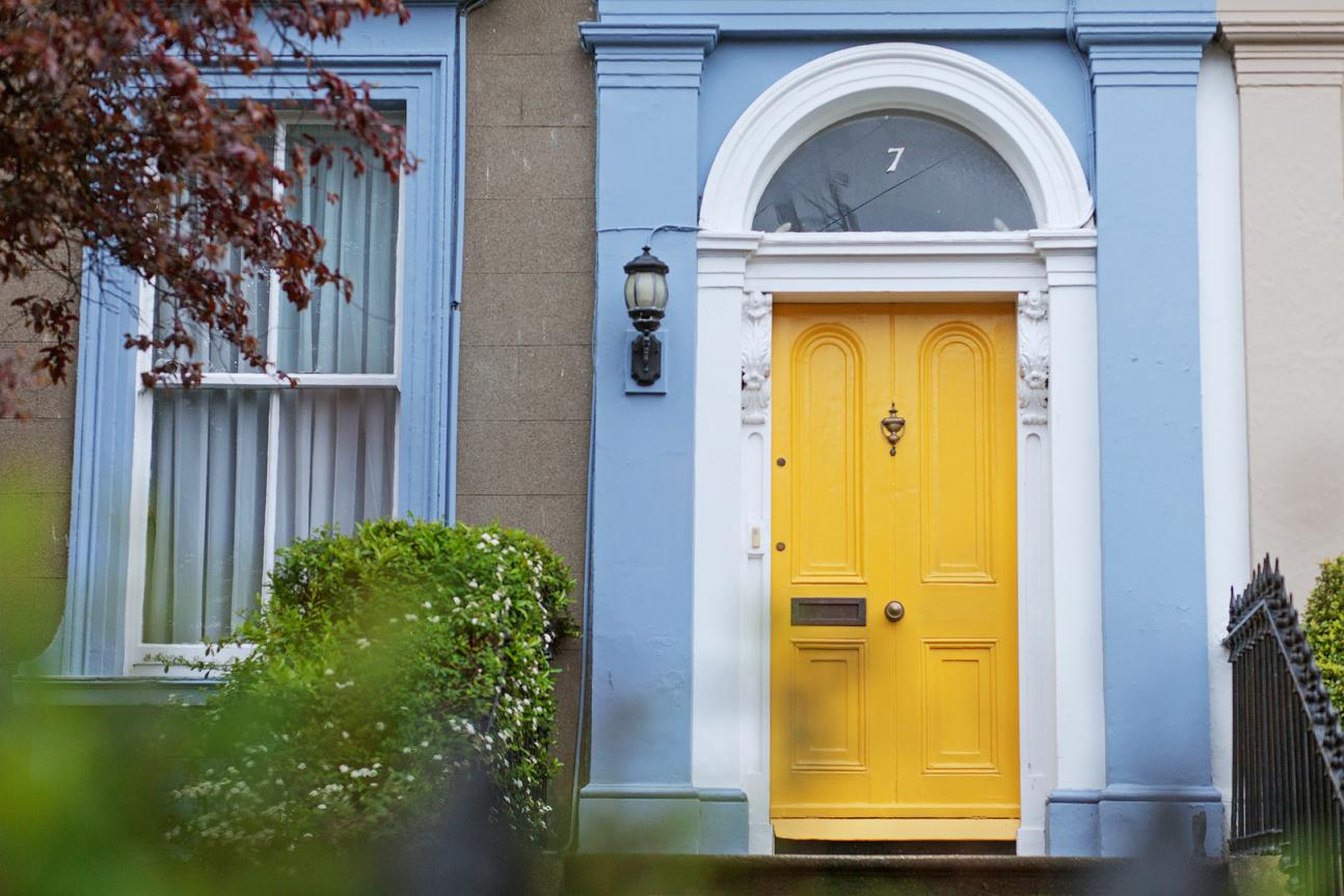 yellow Georgian door
